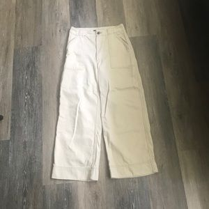 Abercrombie & Fitch high rise wide leg crop pants